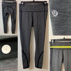 LULULEMON size 4 grey leggings, EUC (worn once)!